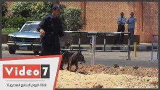 بالفيديو.. الكلاب البوليسية تمشط محيط الاتحادية بعد انفجار قنبلة ومقتل ضابط