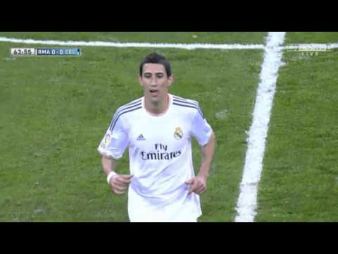 Fans whistle Angel Di Maria off the pitch~Real Madrid vs Celta Vigo 3-0|| 06/01/2014