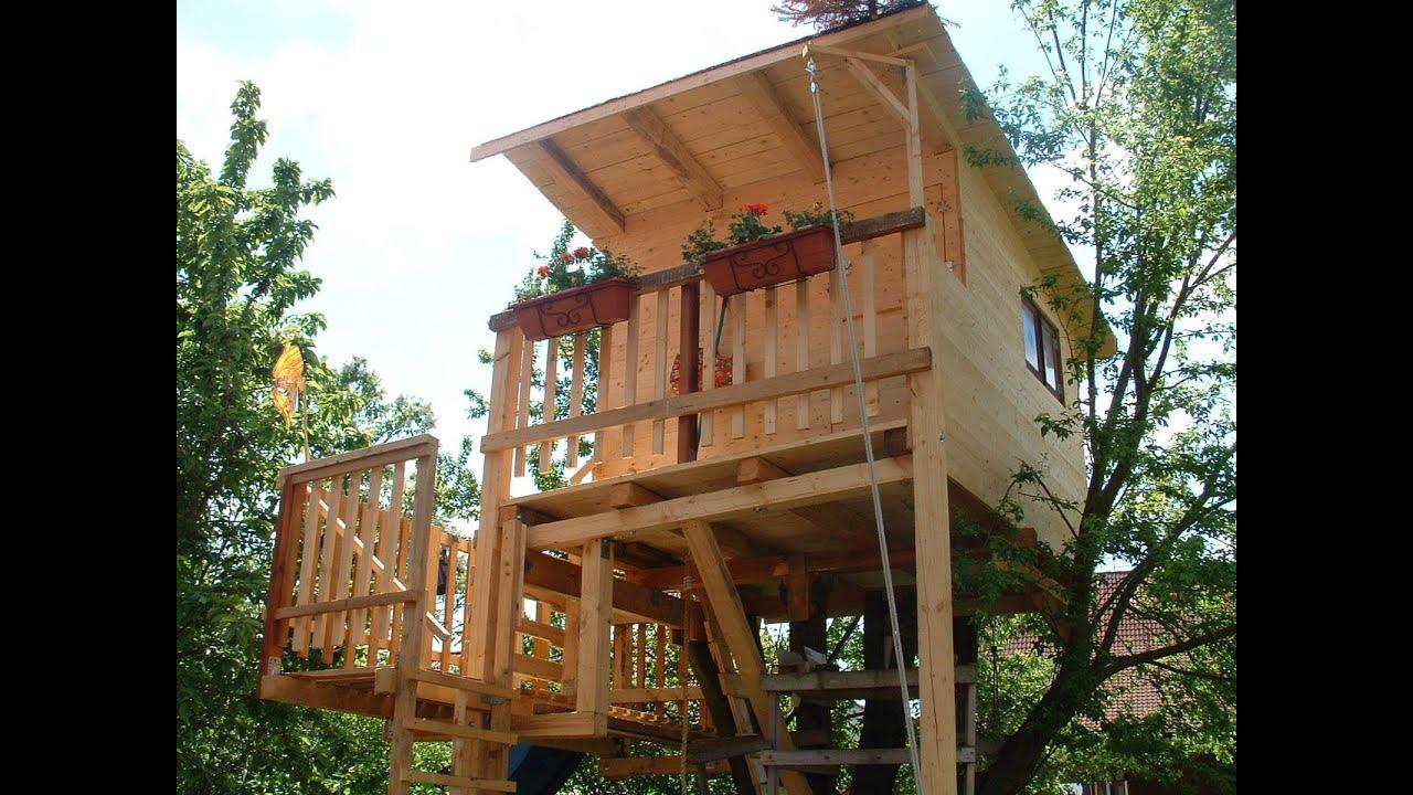 Baumhaus bauen - Ein Familienprojekt - YouTube