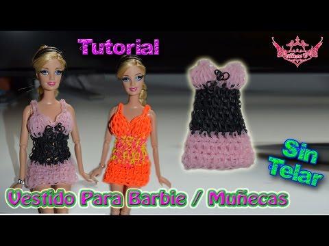 ♥ Tutorial: Vestido para Barbie de gomitas (sin telar) ♥