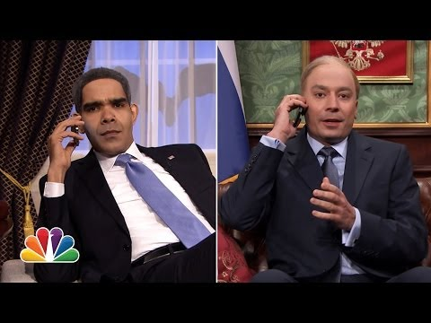 "Obama & Putin Phone Conversation on ""Tonight Show"""