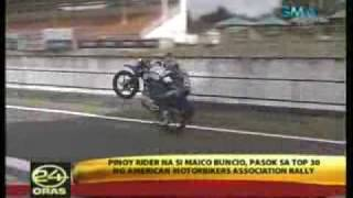 Maico Buncio at GMA 24 Oras News