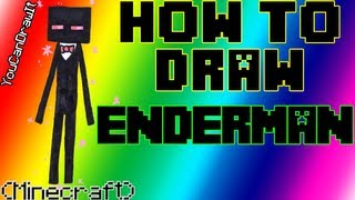 How To Draw Enderman (Bart) From Minecraft YouCanDrawIt