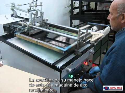 Maquina para  serigrafia  imprimiendo madera semiautomatica,  impri-maq.com.ar