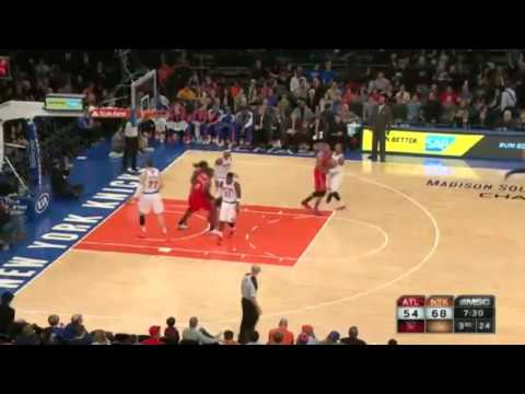 Korver's Streak Extends   Hawks vs Knicks   December 14  2013   NBA 2013 14 Season