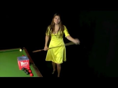 A Dozen Trick Shots with Mary Avina pool snooker hot billiards Girl player