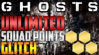 CALL OF DUTY GHOSTS UNLIMITED SQUAD POINTS GLITCH