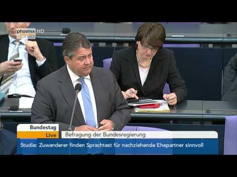 Befragung der Bundesregierung - Sigmar Gabriel zur Energiepolitik am 07.05.2014
