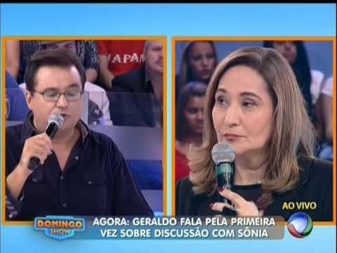 Sonia Abrão se reconcilia com Geraldo Luís ao vivo (13/04/2014)