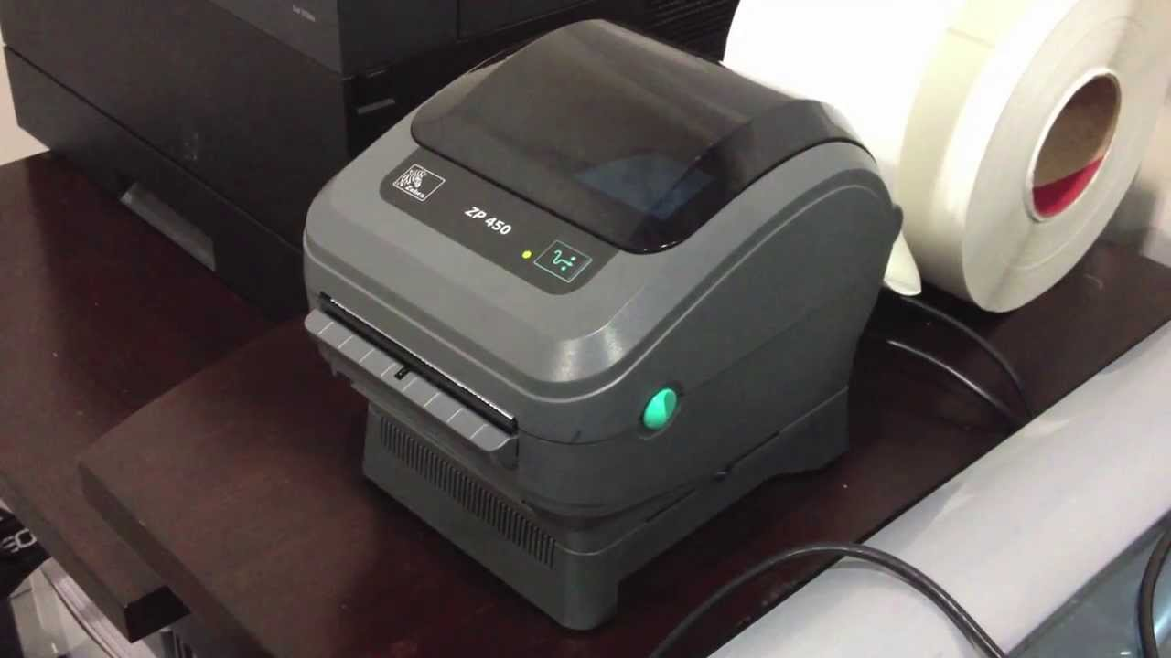 ZP 450 Zebra thermal postage printer overview - YouTube