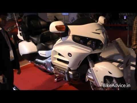 Honda Goldwing, bike with airbag - Auto Expo 2014 Delhi, India