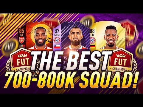 THE BEST OVERPOWERED 700K TO 800K HYBRID FUT CHAMPIONS SQUAD BUILDER!! 🏆- FIFA 18 ULTIMATE TEAM