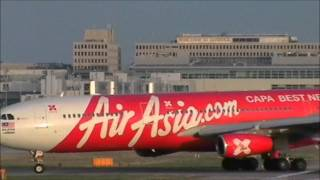AirAsia X Airbus A340-313X Landing & Taking Off London