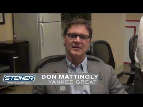 Don Mattingly Discusses Steiner Sports