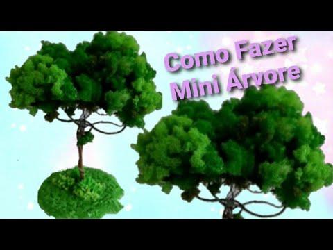 Árvore de Espuma Triturada para Maquete ou Decoração Parte 1/3_Por Lucilia Dantas