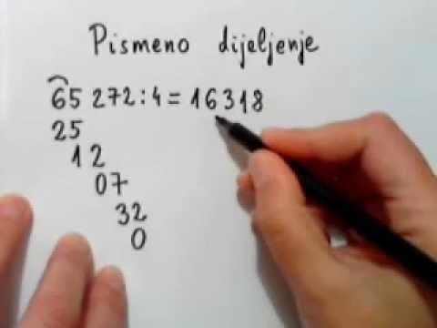 Pismeno dijeljenje prirodnih brojeva