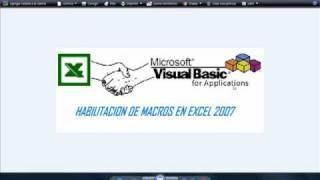 Habilitacion De Macros En Excel 2007