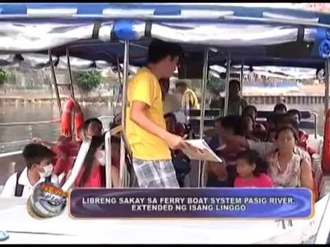 Extended Pasig Ferry Boat free ride