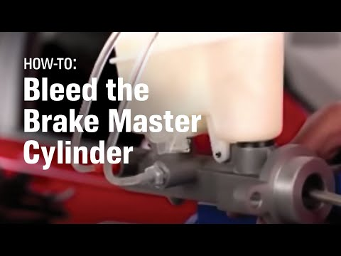 How to Bleed the Master Cylinder and Brake System