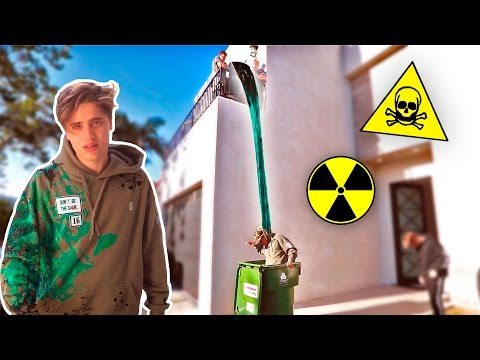 TOXIC SLIME DUMP PRANK THIS DIDNT END WELL