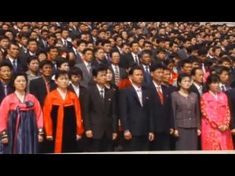 North Koreans celebrate Kim Jong-un's re-election as military chief  video #KimJong-un
