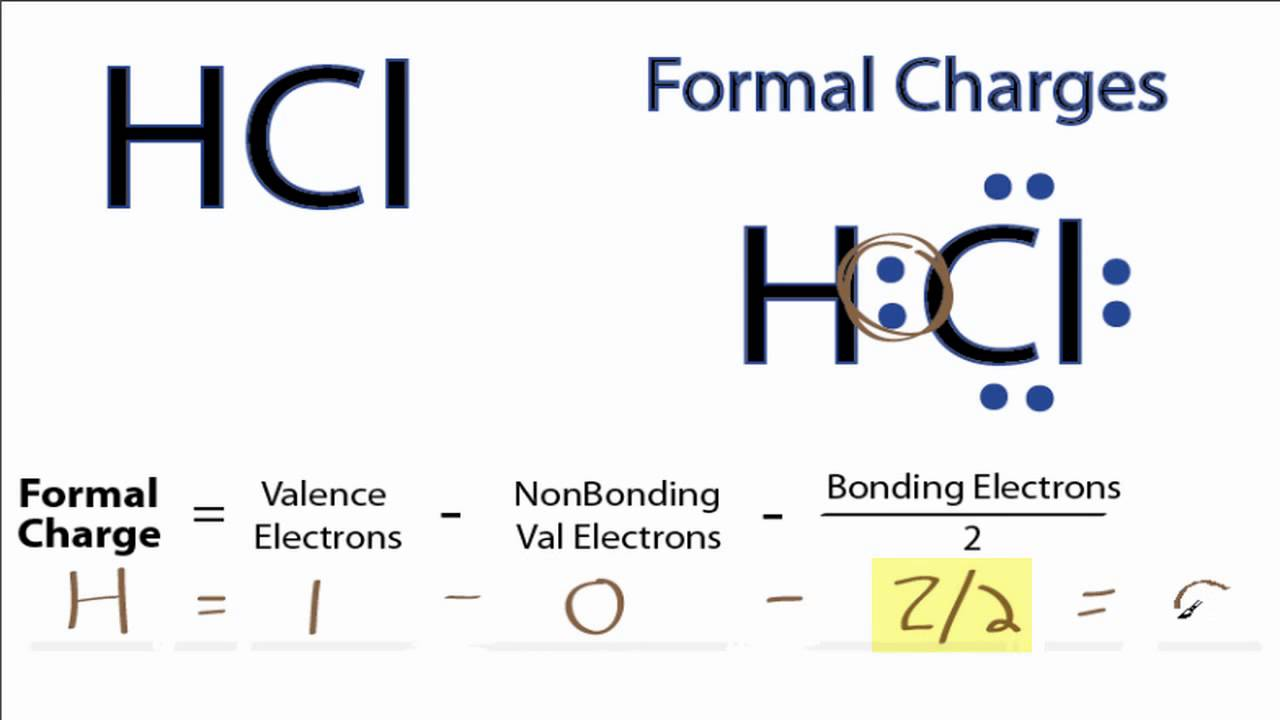 Calculating HCl Formal Charges: Formal Charges for HCl - YouTube