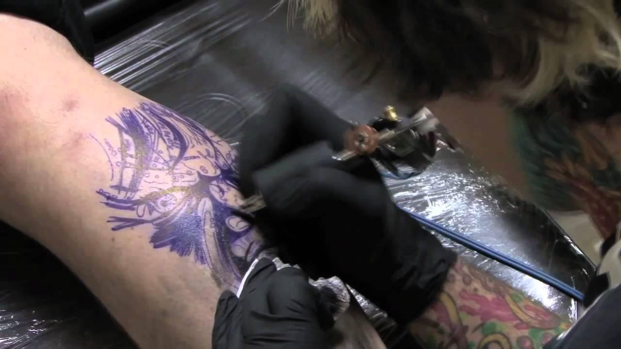 Meet james haun zombie tattoo timelapse youtube for Zombie tattoo machine