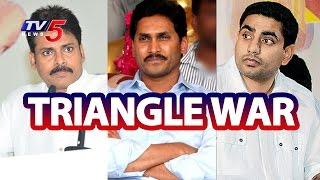 2019 Elections- Triangle war - Nara Lokesh Vs Jagan Vs Paw..