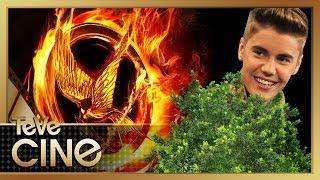 Justin Bieber Escondido en Arbol de Hunger Games?! En Llamas Entrevistas EXCLUSIVAS