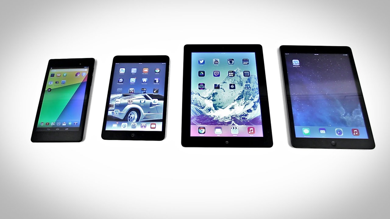 Nexus 7 vs ipad air