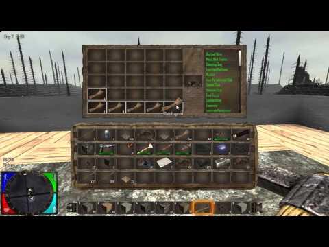 Прохождение часть 3 (материалы для постройки, крафтинг, мины)