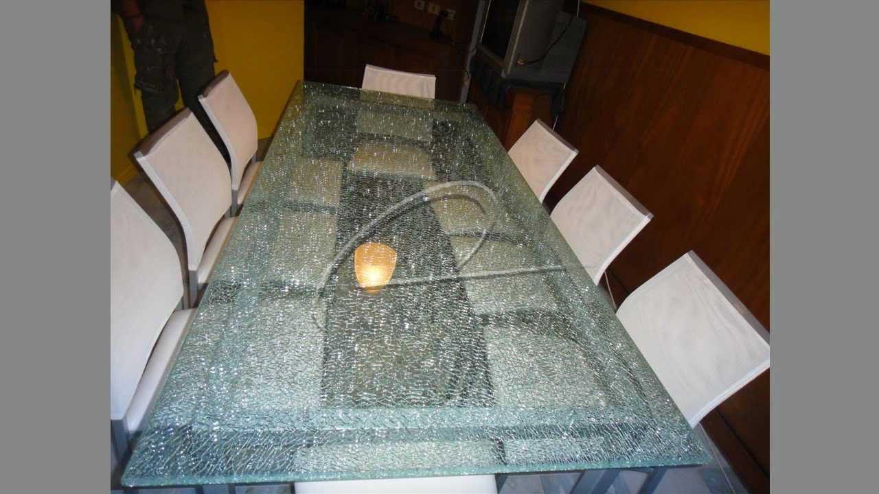 Tapas para mesa de cristal estallado o cristal crudo eco - Mesas de vidrio templado ...