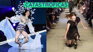 12 peores caídas de supermodelos en  pasarelas