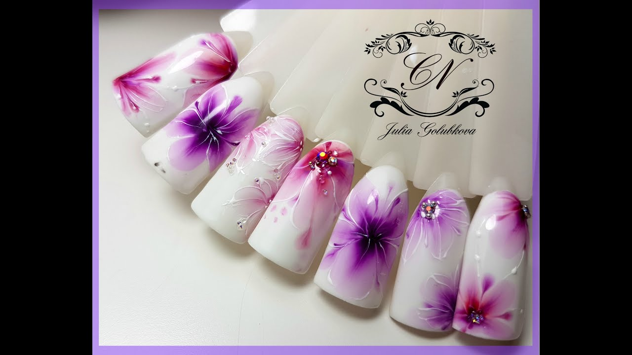 Роспись по мокрому лаку цветы