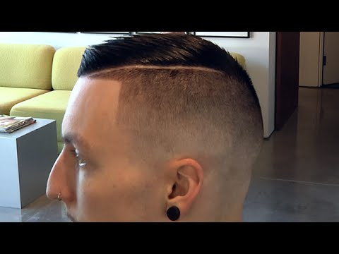 Modern Skin Fade With A Hard Part | Brad Pitt Hairstyle ca. Inglorious Basterds
