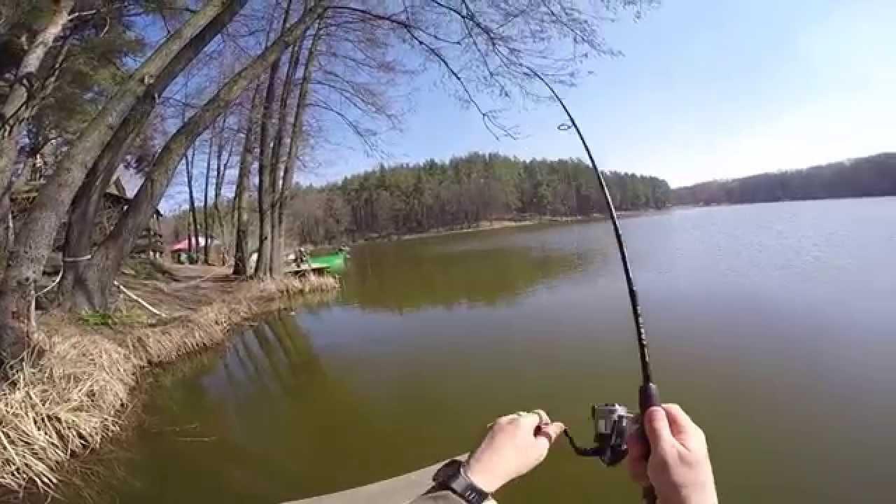 рыбалка на пруду видео ютуб