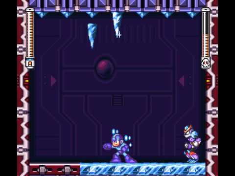 Mega Man VII - Megaman 7 - Freezeman w/ Mega Buster, No Damage - User video