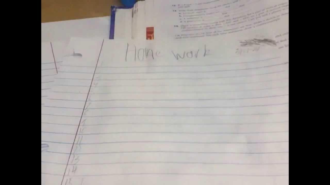 The best homework excuse