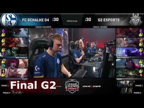 FC Schalke 04 vs G2 eSports - Game 2   Final of EU Regional Qualifier for S8 Worlds 2018   G2 vs S04