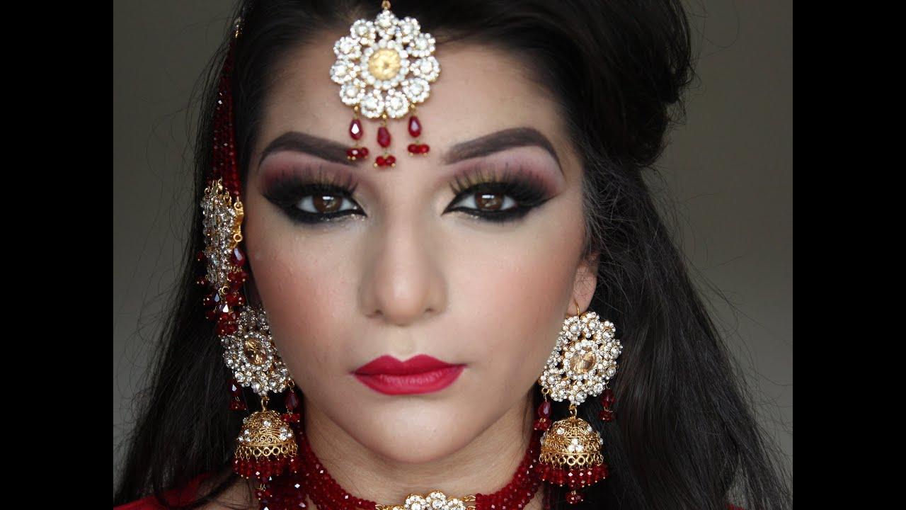 Gold Bridal Makeup : Asian bridal red and gold makeup tutorial - YouTube