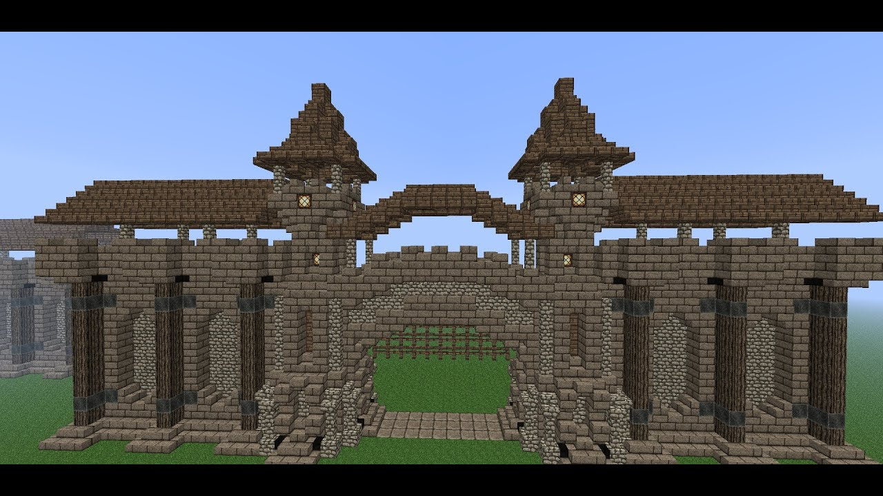 minecraft gate design. Delighful Design Gate Design Youtube Pictures On Minecraft