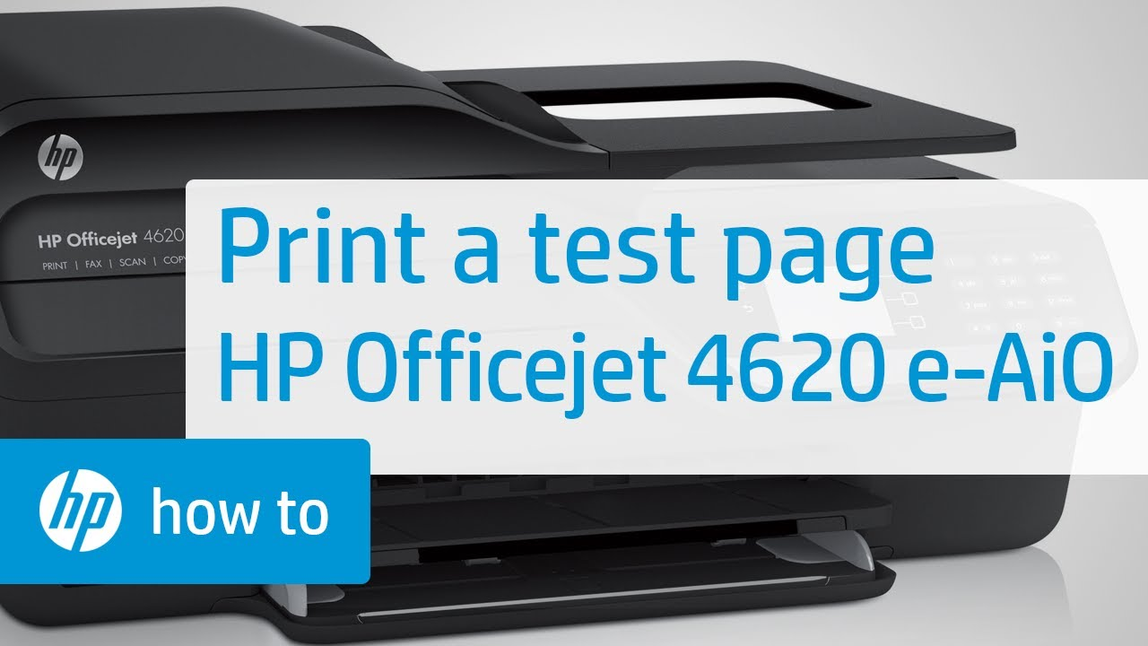 Printing a Test Page - HP Officejet 4620 e-All-in-One ...