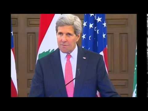 Secretary Kerry Delivers Remarks to the Press in Lebanon