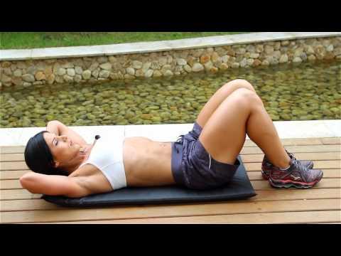 Eva Andressa - Treino de abdómen (03 exercícios básicos)
