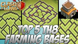 Clash Of Clans Best Top 5 EPIC TH8 Farming Bases! (4th