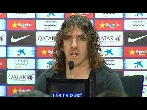Carles Puyol anuncia que deja el Barcelona