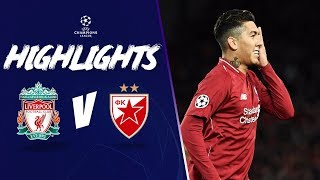 Highlights: Liverpool 4-0 Red Star | Salah at the double | Champions League