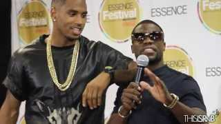 Trey Songz & Kevin Hart Backstage At The Essence Music Festival