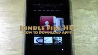 Kindle Fire HD: How To Download Apps