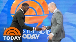 Inspiring 'Handshake Teacher' Gives TODAY Anchors Personalized Handshakes | TODAY